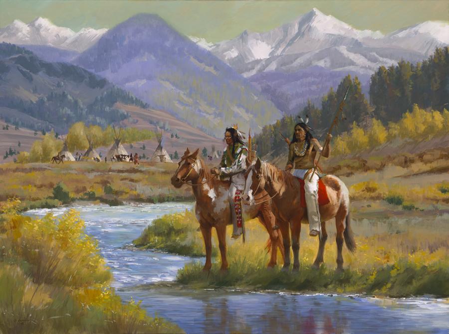 Blackfoot Searchers On The Gallatin
