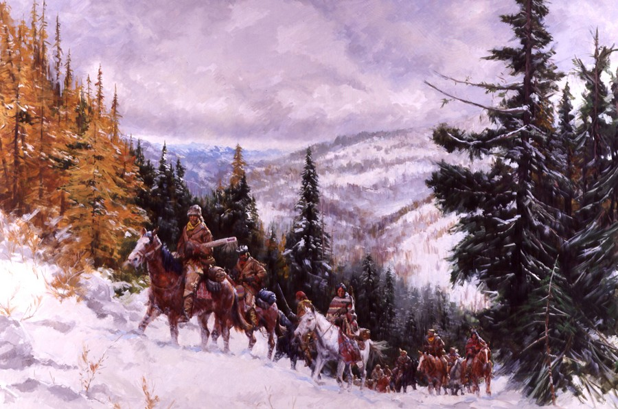 Lewis And Clark Painting Lewis And Clark in The
