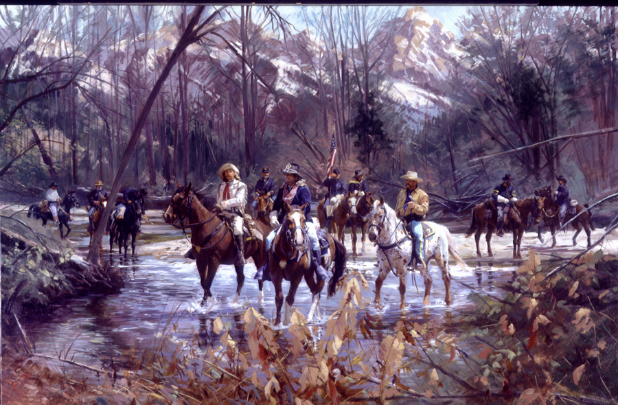 Scouting The Creek, Yellowstone Expedition